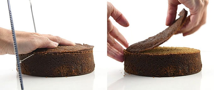 Levelling cake layers