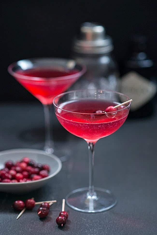 The Red Queen cocktail: beautiful, capricious and a little dangerous... this festive gin-based cocktail was named after the Red Queen in Alice in Wonderland.