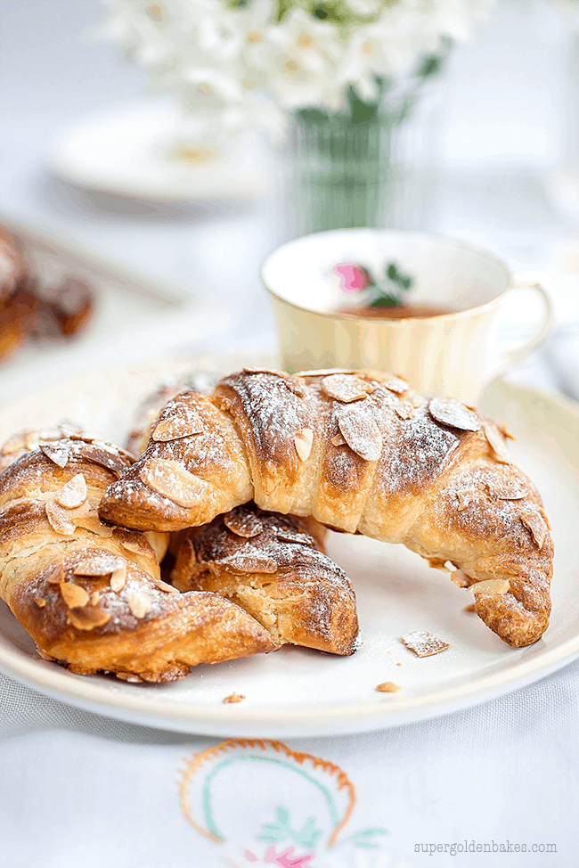 Quick method Almond croissants | Supergolden Bakes