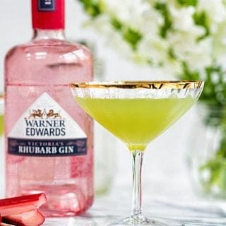 Rhubarb cucumber martini - a beautifully refreshing cocktail.