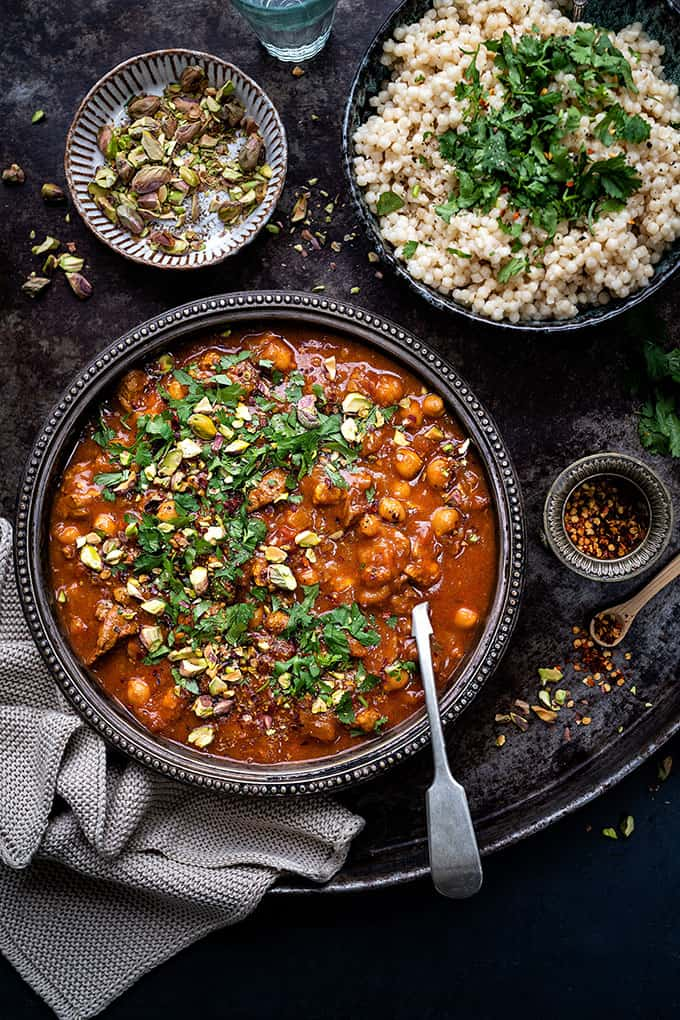 Moroccan Lamb Tagine With Apricots Video Tutorial Supergolden Bakes