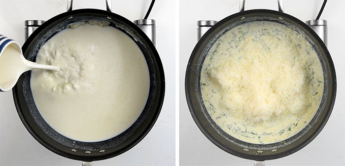 making béchamel
