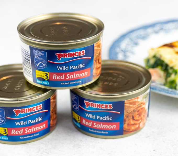 Canned wild red salmon