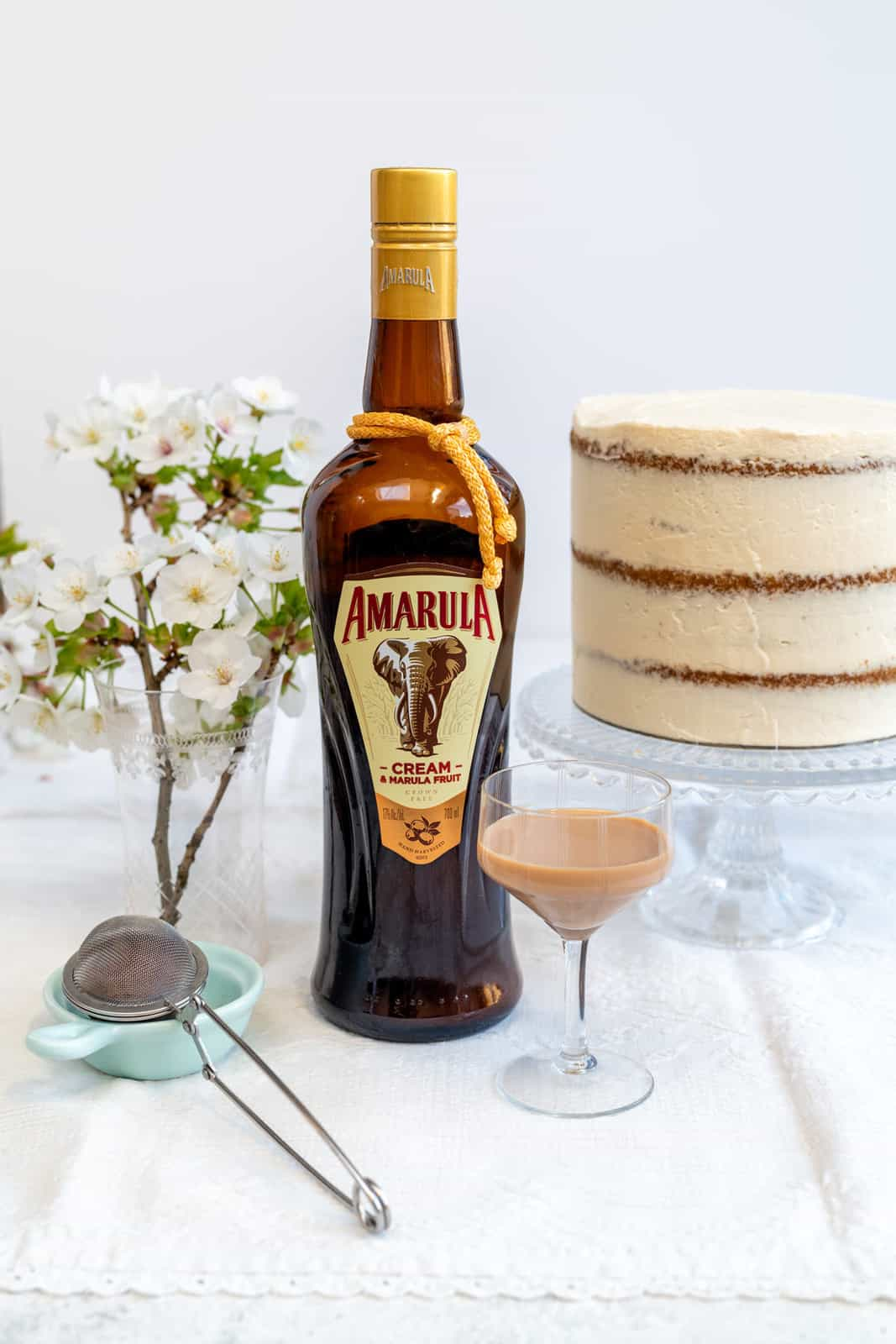 Amarula Cream Liquor with small glass on side